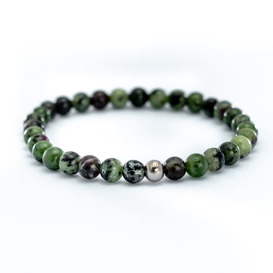 Green Agate Stone Bead Bracelet has a presence to breed compassion, generosity, and a keen sense of justice.