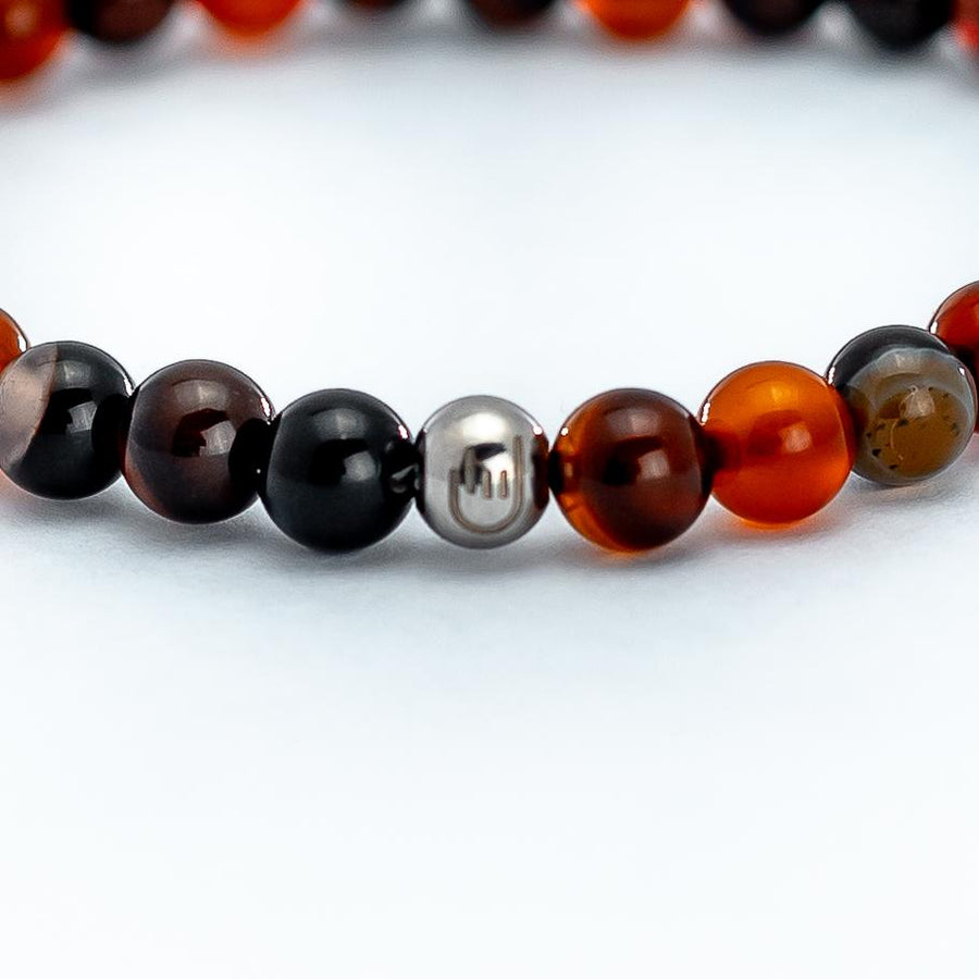 This is an ornate stone bead bracelet and is a symbol of strength and success.