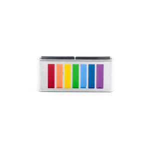 Rainbow tag that represents you as your truest self -  wear it with PRIDE.