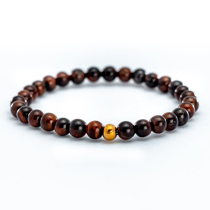 Red Tiger Eye Stone Bead Bracelet is a stimulating stone that is known to drive motivation and remove inhibitions.
