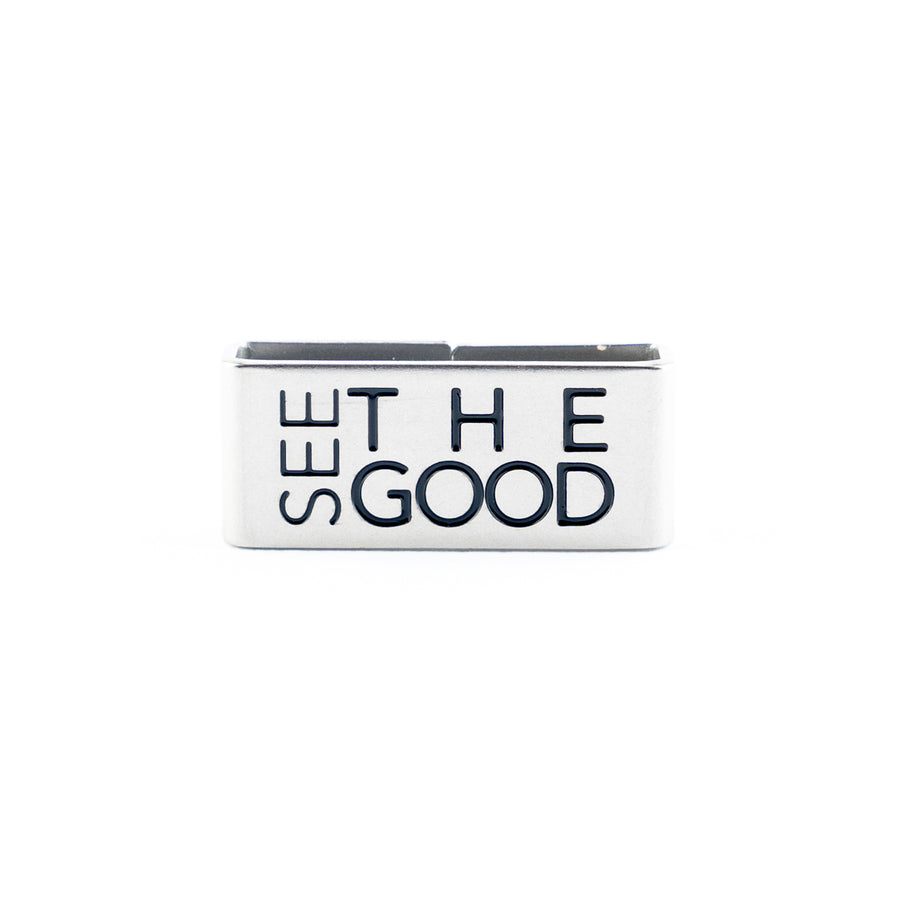 Our See the Good Collectible Tag symbolizes the mindset of Living with a Positive Outlook.