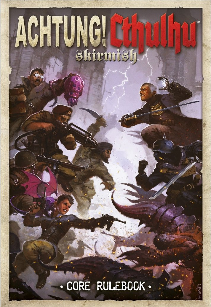 Achtung! Cthulhu Skirmish core rule book
