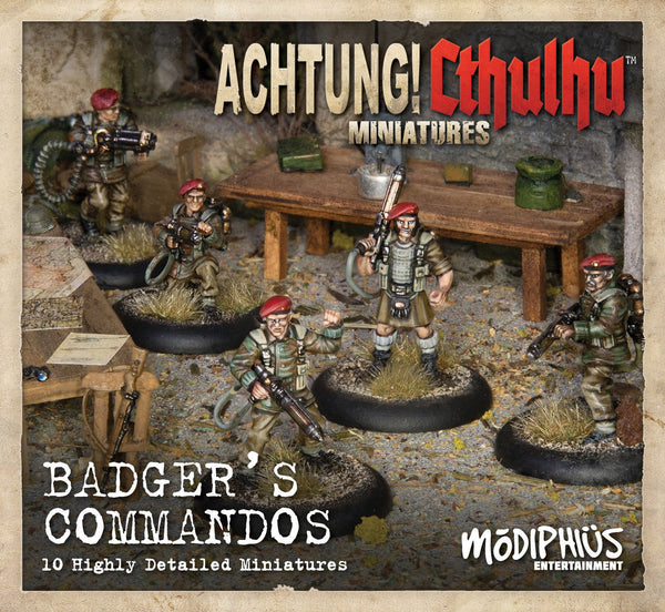 Achtung! Cthulhu Skirmish: Badger's Commandos unit pack