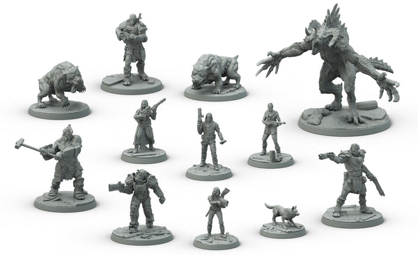 Fallout: Wasteland Warfare - Two Player Starter Models: Collectors Resin Set