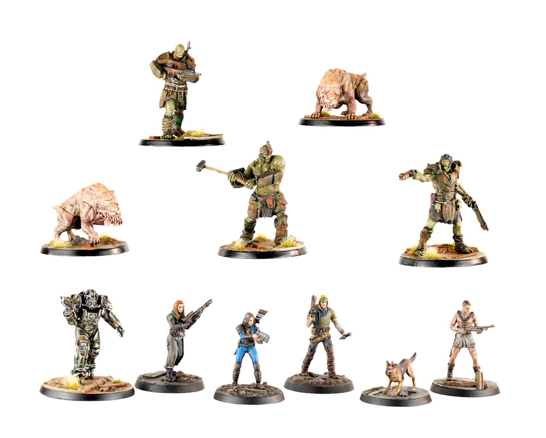 Fallout: Wasteland Warfare - Resin Two Player Starter Set Models