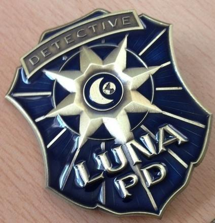 Mutant Chronicles: Luna City Police Department badge