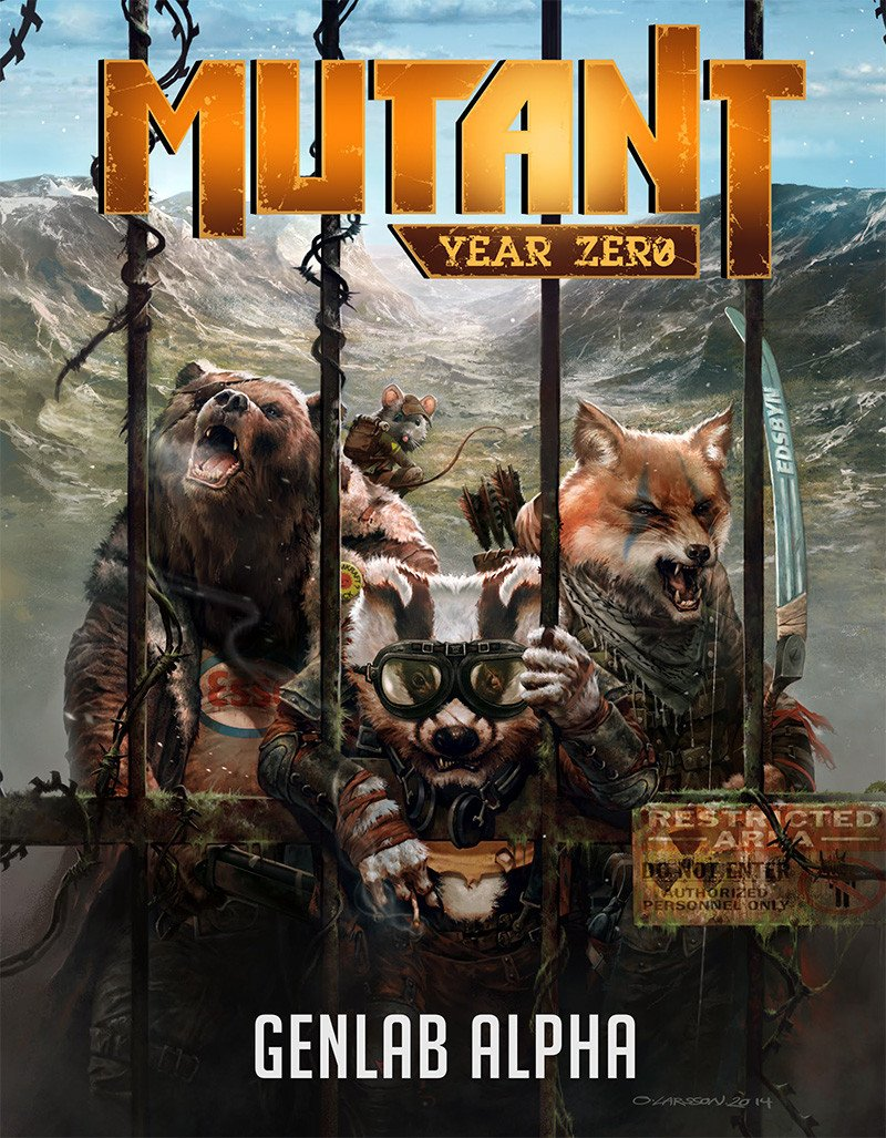 Mutant Genlab Alpha Bundle: core book, card set, dice & map