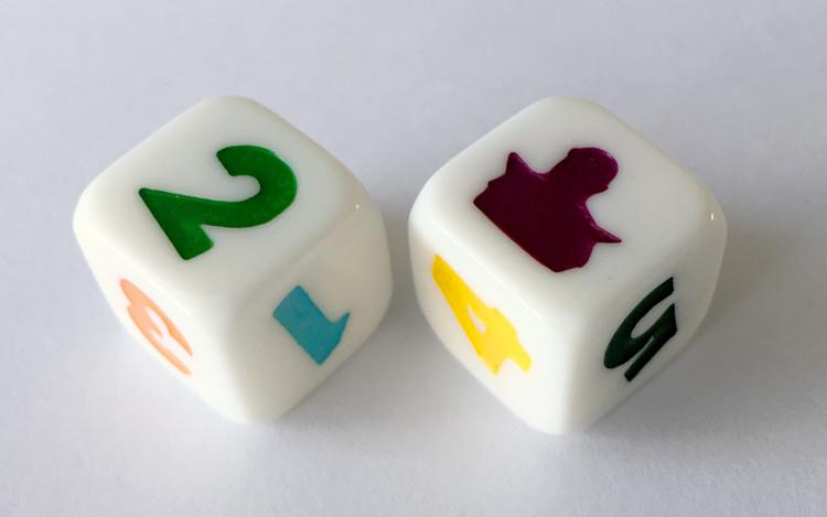 Thunderbirds D6 dice set