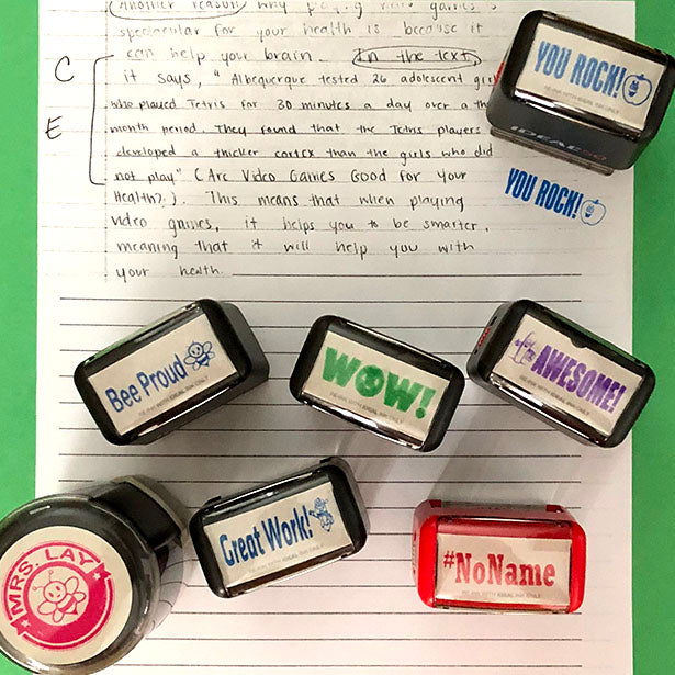 Teacher Stamps Save Time
