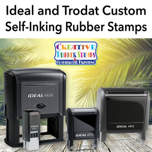 Ideal and Trodat Custom Self-Inking Rubber Stamps