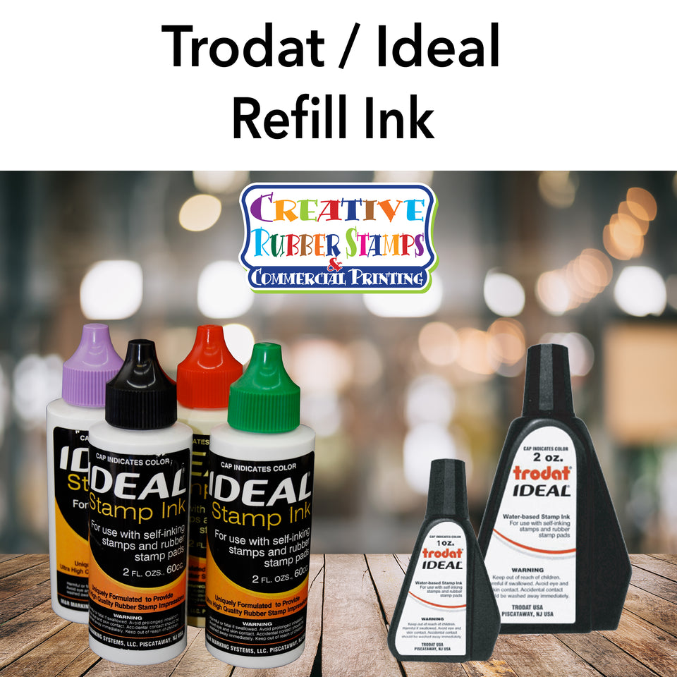 Trodat and Ideal Stamp Refill Ink