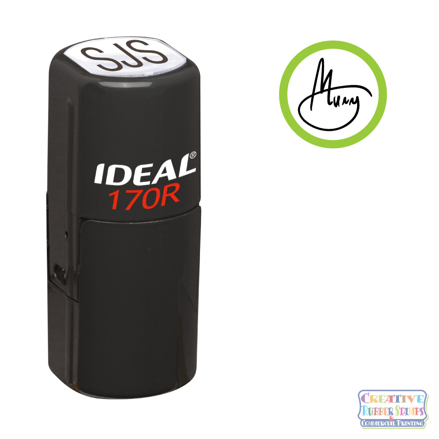 Initial Signature Ideal 170R Custom Self-Inking Stamp