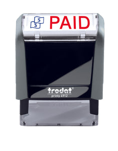 Trodat PAID Ideal 4912 Custom Self-Inking Rubber Stamp
