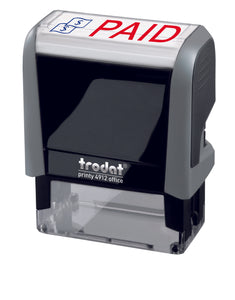 Trodat PAID Ideal 4912 Custom Self-Inking Rubber Stamp Right Angle