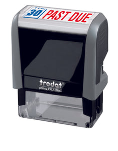Trodat PAST DUE Ideal 4912 Custom Self-Inking Rubber Stamp Right Angle