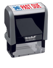 Trodat PAST DUE Ideal 4912 Custom Self-Inking Rubber Stamp Left Angle