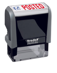 Trodat POSTED Ideal 4912 Custom Self-Inking Rubber Stamp Left Angle
