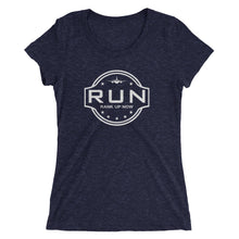 Rank Up Now 1st Edition - ( Be Careful Back Logo ) Ladies' short sleeve t-shirt