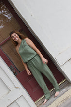 One Shoulder Army Jumpsuit | women clothing