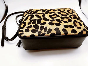 Leopard Cowhide Crossbody Purse