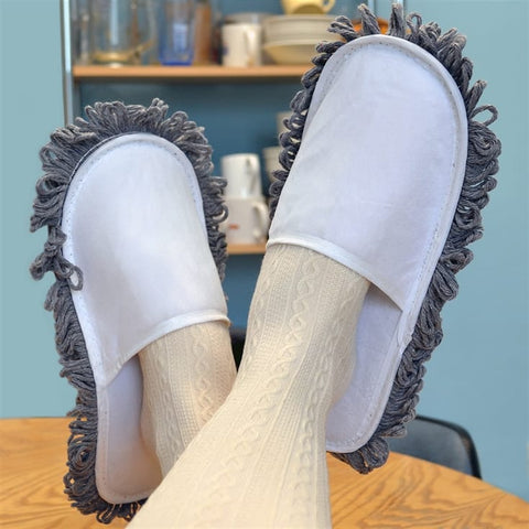 slippers with mop style bottom