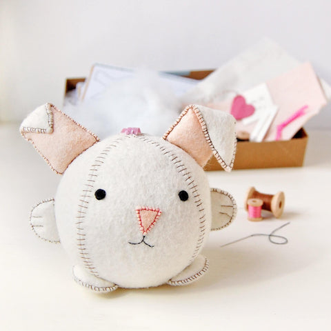 round sew your own bunny head and ears