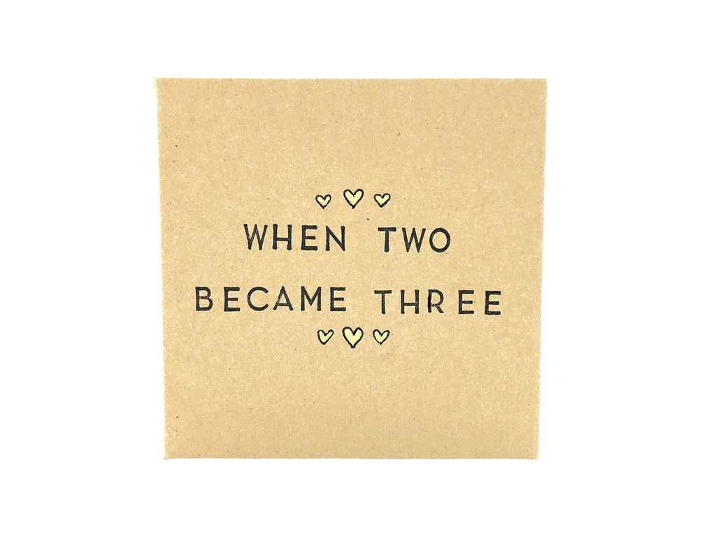 """When two became three"" - Adoption/New baby card"