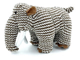 crochet woolly mammoth soft toy left side