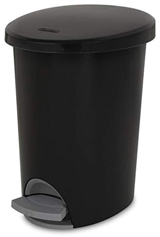 STERILITE Corp 10819002 Waste Basket Step On Black 2.6 G, 2 g