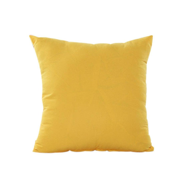 AmyDong Home Decor Pillow Case Cotton Linen Cushion Cover Plain Pillowcase car Accessories Office nap Pillow Bedroom Decorative Pillowcase (Yellow)