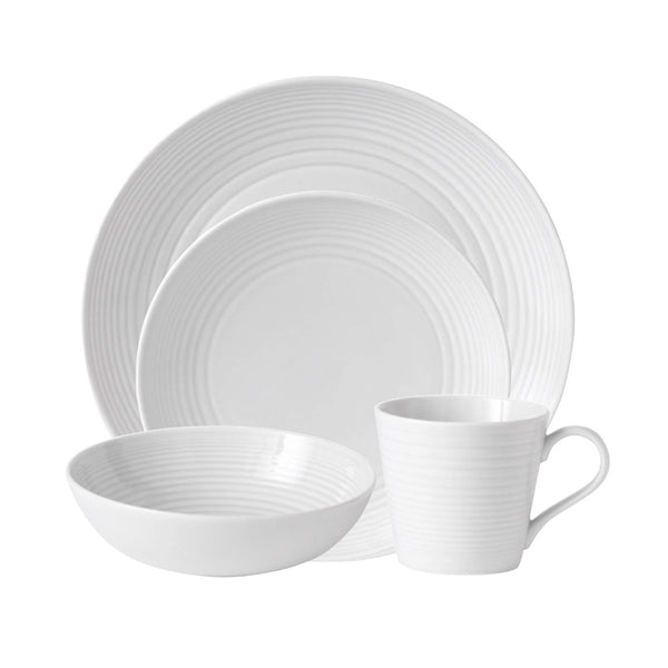 Royal Doulton 8574024522 Gordon Ramsay Maze White 4-Piece Set