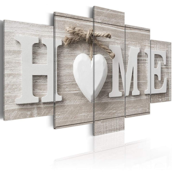 Love Sanctuary Canvas Art White Home Sweet Heart Modern Wall Decor Painting