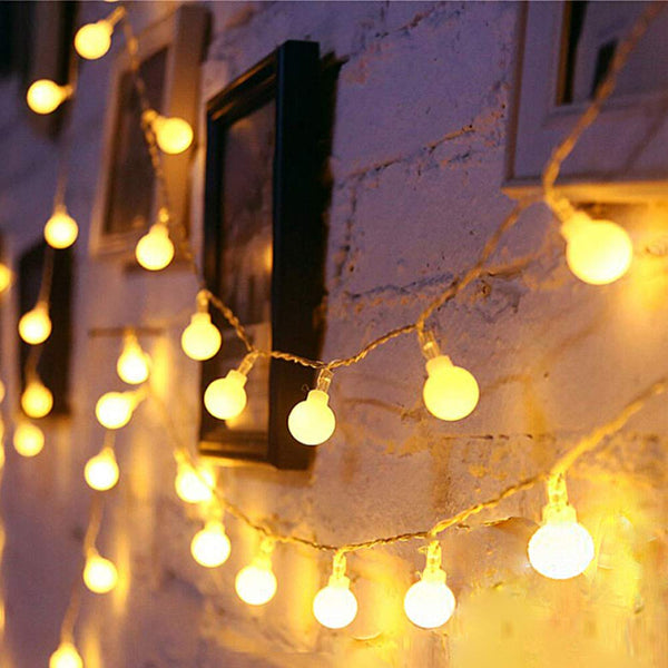 LED Globe String Lights twinkle lights , Plug in Fairy Lights, 49Ft 100 LED String Light, Waterproof, Perfect for Indoor Outdoor Wedding Christmas Party with 30V Low Voltage Transformer, Extendable