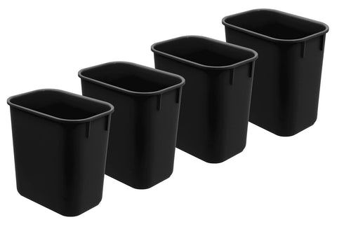 Acrimet Wastebasket 13QT (4 - Pack) (Black Color) (4)