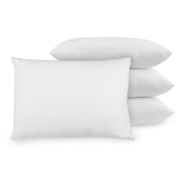 BioPEDIC 4-Pack Bed Pillows with Built-In Ultra-Fresh Anti-Odor Technology, Standard Size, White