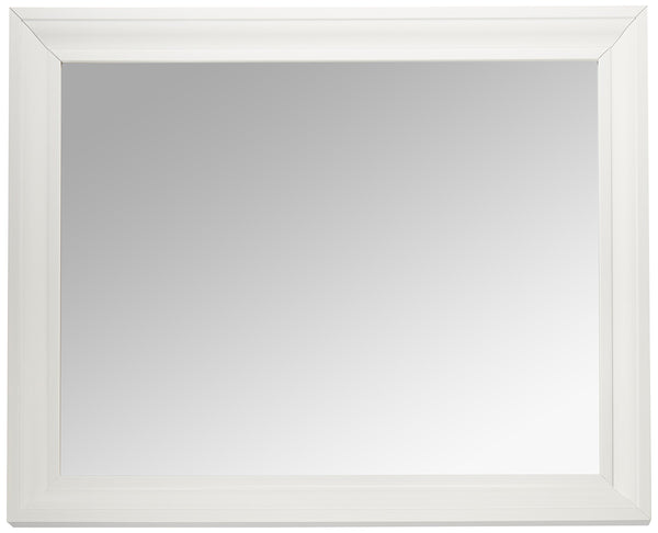 MCS 21.5x27.5 Inch Rectangular Wall Mirror, 26.5x32.5 Inch Overall Size, White (20453)