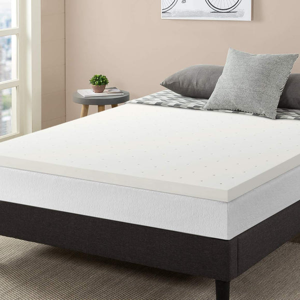 Best Price Mattress, 2.5 Inch Ventilated Memory Foam Mattress Topper, Certipur-US Certified, Twin Extra Long Size