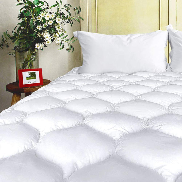 BEL TESORO Mattress Pad Cover Queen Cooling Soft Mattress Topper Combed Cotton Filled Stretches Up to 8-21