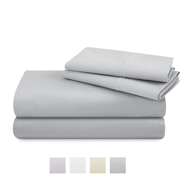 TRIDENT 600 Thread Count Queen Sheets, 100% Cotton, Sateen Weave, deep Pockets fit Upto 18