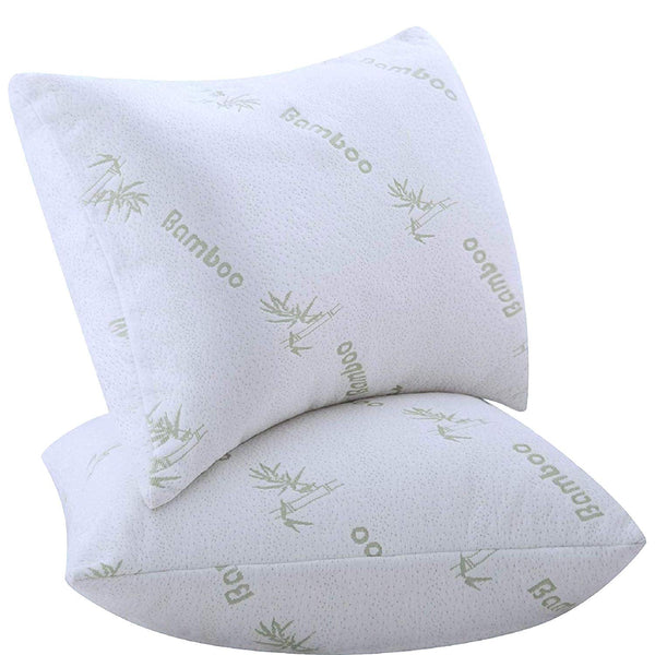 Niagara Sleep Solution Pillows for Sleeping 2 Pack Bamboo Ultra Soft Bounce Back Standard Queen Size 18 x 26 inches Pair Set of 2 Cool Washable Over Filled Pillows