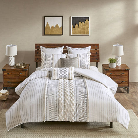 Ink+Ivy Imani Duvet Cover Mini Set, Ivory
