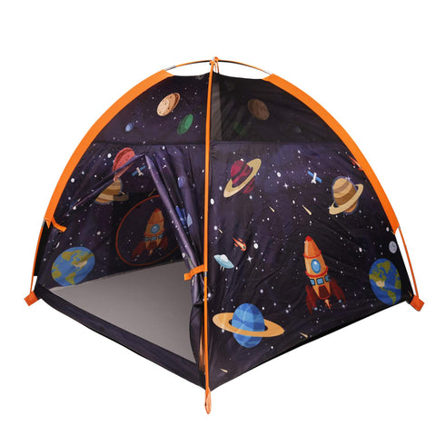 MountRhino Rocket Ship Play Tent Playhouse - Rocket Ship Tent, Astronaut Space Tent for Kids, Portable Kids Pop Up Play Tent for Boy's Imaginative Camping Playground Games & Gift -48