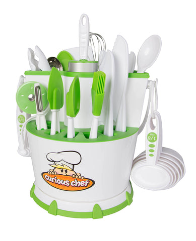 Curious Chef TCC50197 30-Piece Chef Caddy Collection, 13.8 x 13 x 10.5 Inch, Multicolored