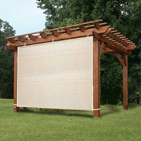 Easy2Hang EZ2hang Outdoor Shade Cloth Vertical Side Wall Panel for Patio/Pergola/Window 6x6ft Wheat