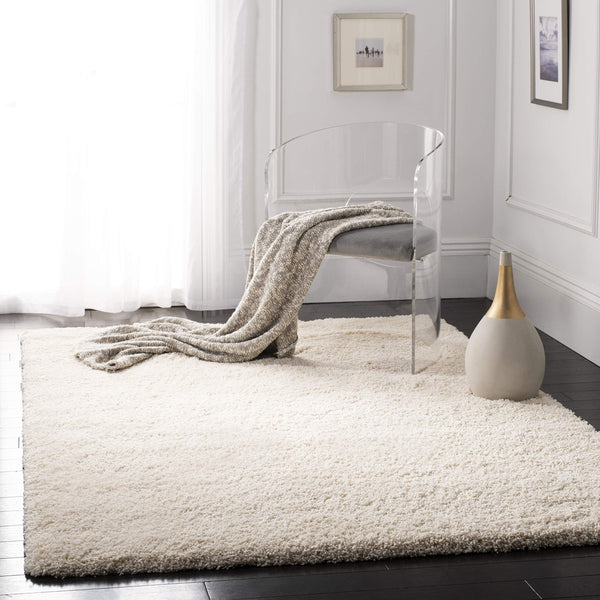 Safavieh California Premium Shag Collection Ivory Area Rug (8' x 10')