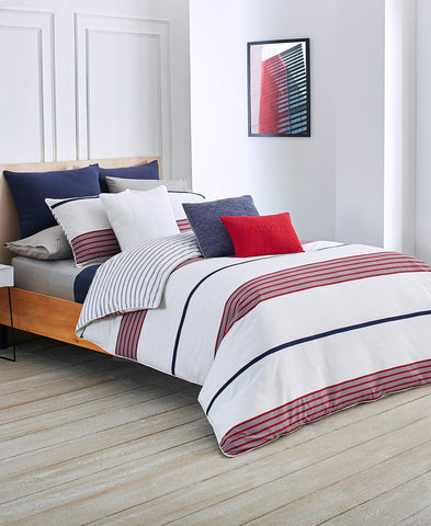 Lacoste Milady Duvet Set, King, Red