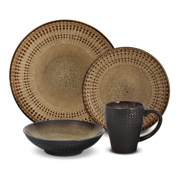 Pfaltzgraff Cambria 16-Piece Stoneware Dinnerware Set, Service for 4