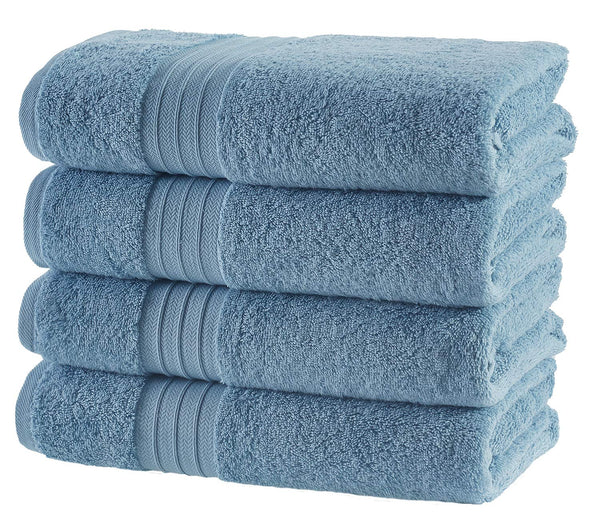 Hammam Linen HL Luxury Hotel & Spa Bath Towel Turkish Cotton Bath Towels - Light Blue - Set of 4, 27