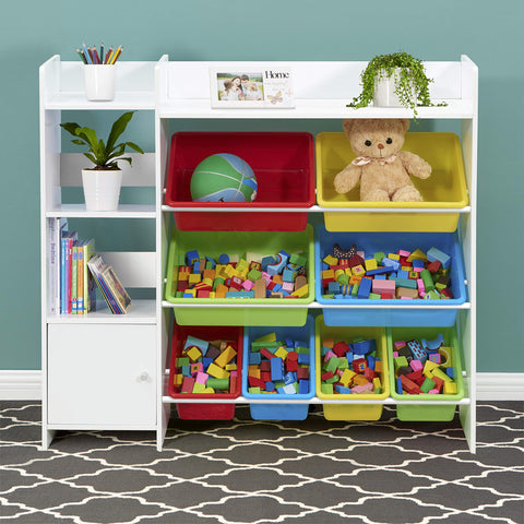 Sturdis Kids Toy Storage Organizer with Kids Toy Shelf and Multi Toy Bins - Perfect Toy Storage Solution - Your Kids Will Have Fun and You Will be Free from Messes!