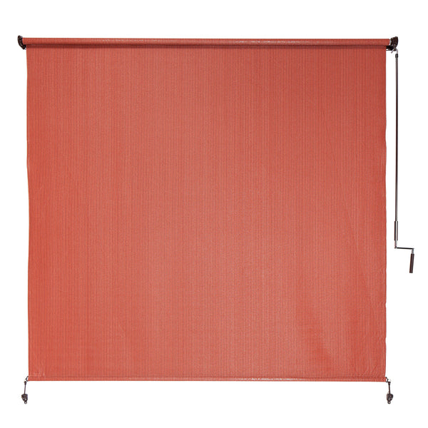 Coolaroo Exterior Roller Shade, Cordless Roller Shade with 90% UV Protection, No Valance, (6' X 6'), Terracotta